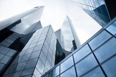 Fotomural Arranha-céus - bancos