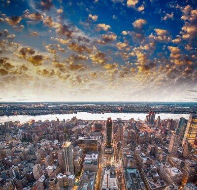Fotomural Arranha-céus da cidade moderna e horizonte