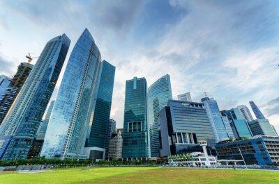 Fotomural Arranha-céus em distrito financeiro de Cingapura