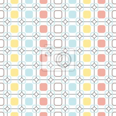 Fotomural Arredondado, quadrados, repeatable, seamless, vetorial, pattern.