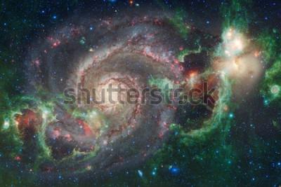 Fotomural Arte do espaço sideral. Nebulosas, galáxias e estrelas brilhantes em bela composição. Elementos desta imagem fornecidos pela NASA