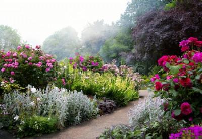 Fotomural Arte flores da manhã em um parque inglês