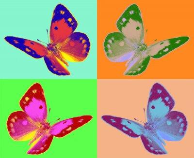 Fotomural arte pop Colias borboleta