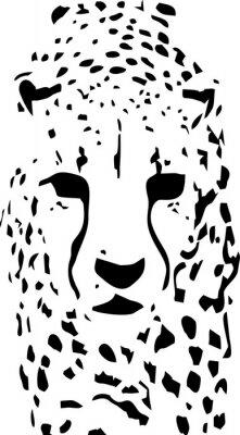 Fotomural Arte pop do tigre preto e branco
