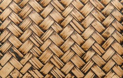 Fotomural artesanato de bambu tecer textura para o fundo