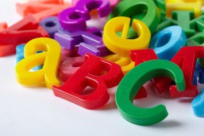 Fotomural As letras do alfabeto de plástico