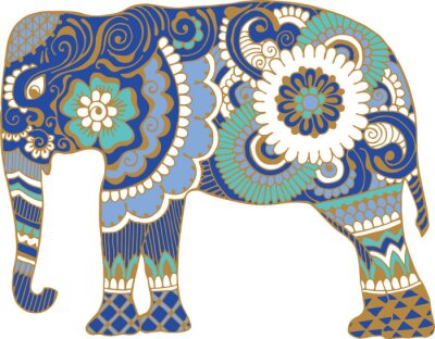 Fotomural Asiático, elefante, padrões