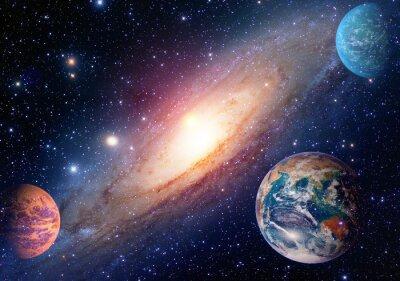 Fotomural Astrologia, astronomia, terra, exterior, espaço, solar, sistema, estraga, planeta, leitoso, maneira, galáxia. Elementos desta imagem fornecida pela NASA.