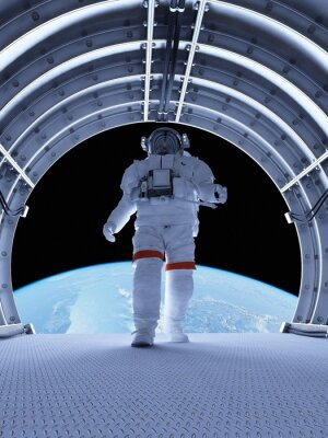 Fotomural Astronauta nos túneis