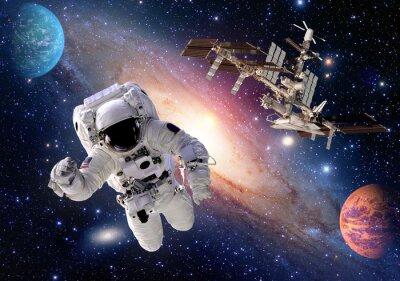 Fotomural Astronauta, spaceman, terno, pessoas, planeta, exterior, espaço ... Elementos desta imagem fornecida pela NASA.
