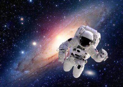 Fotomural Astronauta terno astronauta espaço sistema solar universo pessoas. Elementos desta imagem equipada pela NASA.