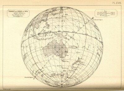 Fotomural Astronomia do vintage / trânsito de Venus