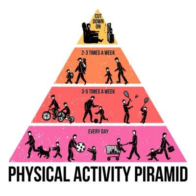 Fotomural Atividade Física Infographics