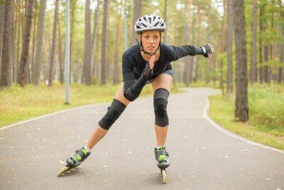 Fotomural Ativo mulher patinação