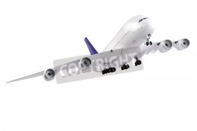 Fotomural Avião moderno isolado no fundo branco.