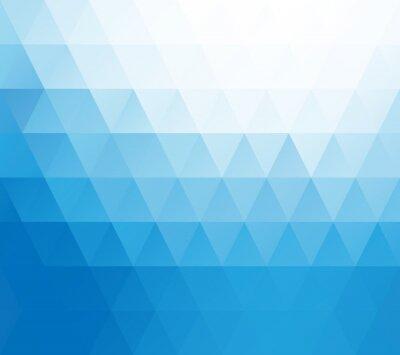 Fotomural Azul Fundo Branco Mosaic, criativos modelos de design