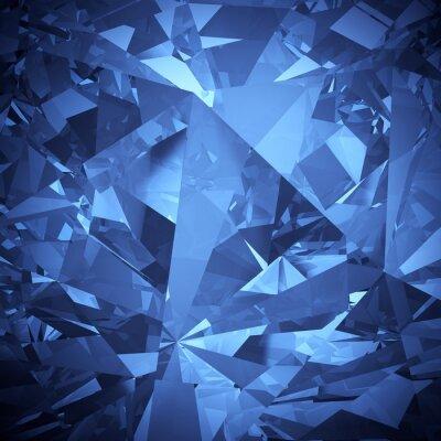 Fotomural Azul luxuoso cristal faceta fundo