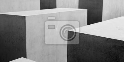 Fotomural B & w padrão geométrico abstrato