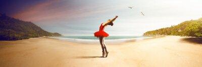 Fotomural Bailarina de Ballet na praia