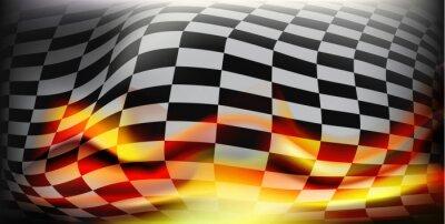 Fotomural Bandeira checkered da raça. Correndo bandeiras. Bandeira de fundo xadrez Para