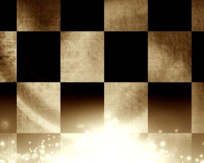 Fotomural Bandeira de corrida de xadrez