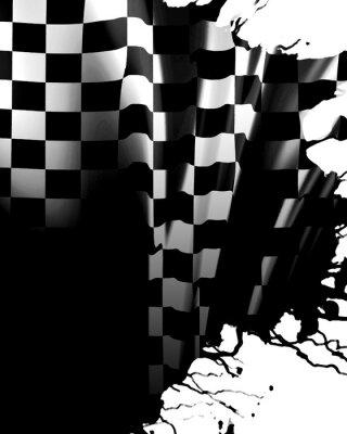 Fotomural Bandeira de xadrez