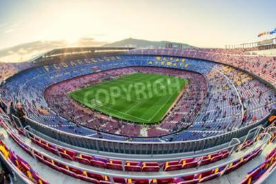 Fotomural BARCELONA, ESPANHA - 19 DE ABRIL: estádio de futebol em 19 de abril de 2017 em Barcelona