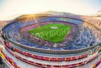 Fotomural BARCELONA, ESPANHA - 19 DE ABRIL: Estádio de futebol Nou Camp em 19 de abril de 2017 em Barcelona