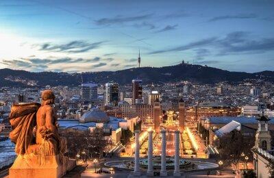 Fotomural Barcelona na hora azul, Espanha