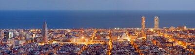 Fotomural Barcelona panorama skyline na Hora Azul