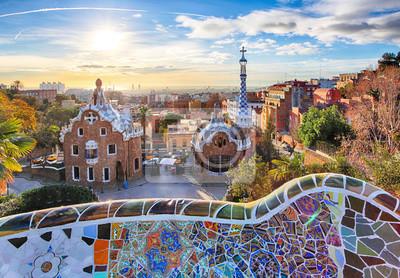 Fotomural Barcelona - Parque Guell, Espanha