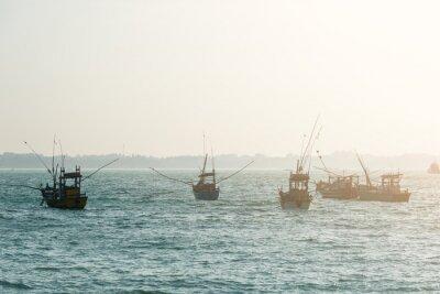 Fotomural Barcos de pesca
