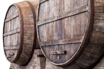 Fotomural Barricas de carvalho em uma adega, cervejaria ou destilaria