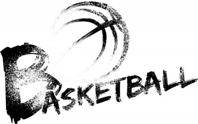 Fotomural Basketball Grunge Streaks