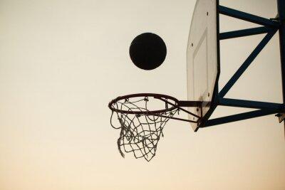 Fotomural basquete sobre o anel