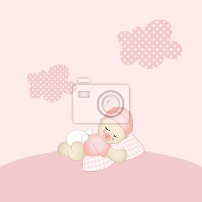 Bebê Menina Fundo Fotomural Fotomurais Beatiful Sua Sonhar