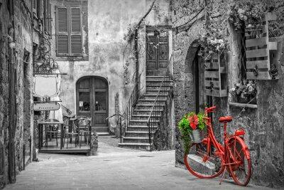 Fotomural Beco lindo na Toscana, cidade velha, Itália