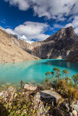 Fotomural Bela paisagem de montanha nos Andes, Peru, Cordiliera Blanca