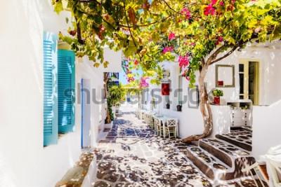 Fotomural Bela rua na ilha de Paros, Grécia