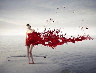 Fotomural Beleza vermelha