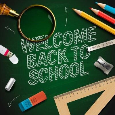 Fotomural Bem-vindo de volta à escola, vetor Eps10 ilustração.