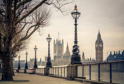 Fotomural Big Ben e casas do parlamento, Londres