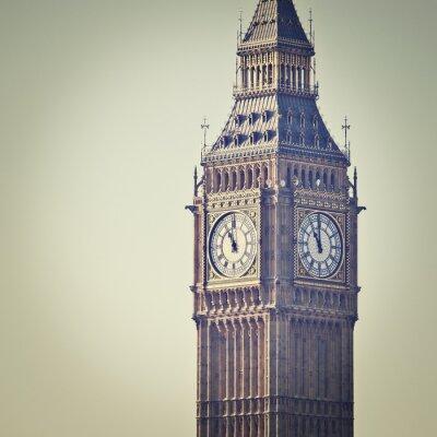 Fotomural Big Ben em Westminster, Londres, com filtro de efeito Instagram