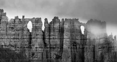 Fotomural Black and White Bryce Canyon
