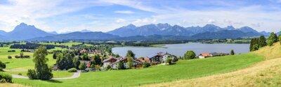Fotomural Blick auf Hopfen am See em Allgäu