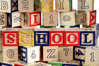 Fotomural Blocos de madeira do alfabeto