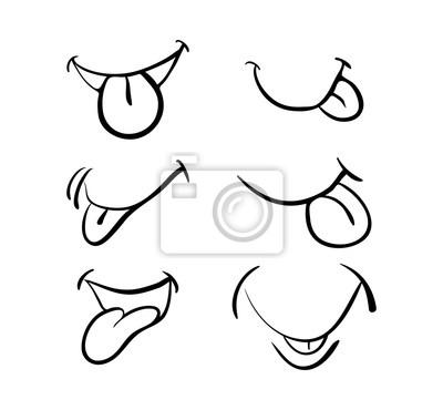 boca dos desenhos animados com língua design do ícone do símbolo