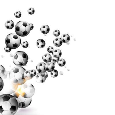 Fotomural Bola de futebol isolado em um fundo branco