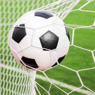 7cf9ba276e Bola de futebol na rede do gol fotomural • fotomurais rede ...