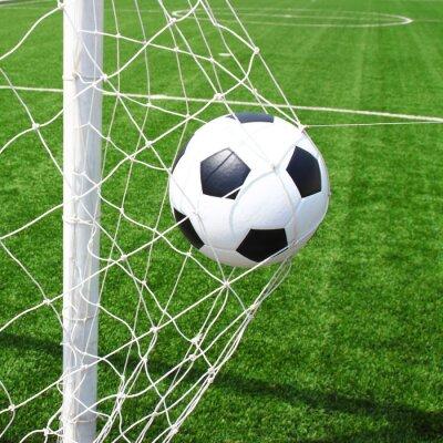 c58831202c Bola de futebol no gol fotomural • fotomurais liga